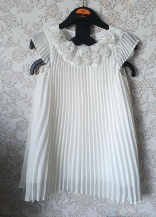Белое платье mamas & papas на 1,5-2 года, 3 года