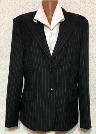 Стильный деловой пиджак жакет шерсть