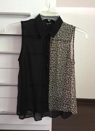 Блузка рубашка без рукавов летняя нарядная tally weijl