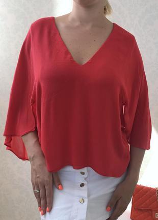 Рубашка блуза  с воланами zara