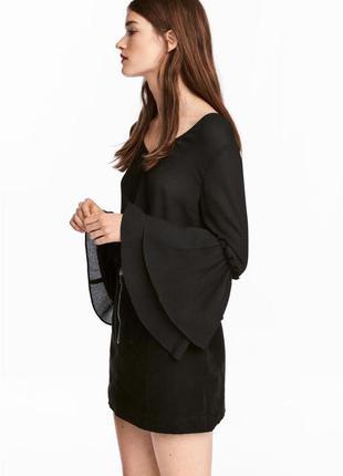 Трендовая новая блуза от h&m, воланы, жатый шифон, размер s