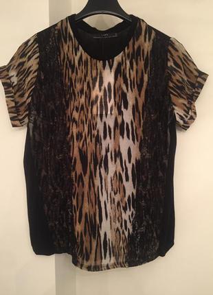 Эффектная блузка zara с animal принтом