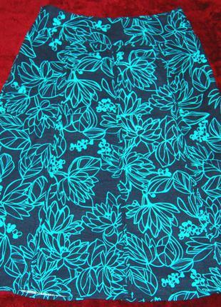 Чудесная льняная юбка maine великобритания 55 % лен