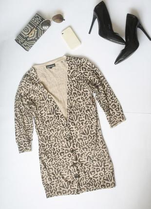 Стильный мягкий леопардовый кардиган warehouse