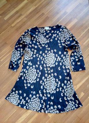 Стильное легонькое вискозное платье свободного кроя masai xl(42)