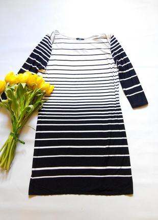 Классное платье в полоску f&f