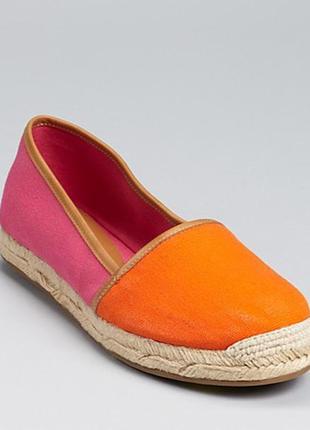 Эспадрильи оранжево-розовые aqua.