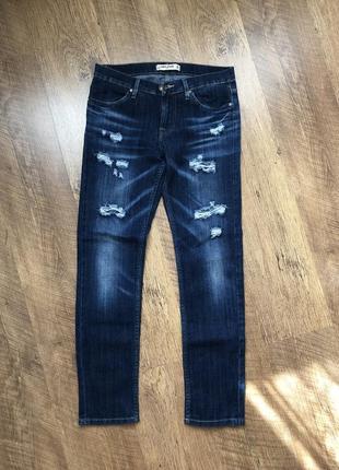 Джинсы рваные gloria jeans