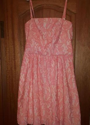 Нежное розовое платье reserved