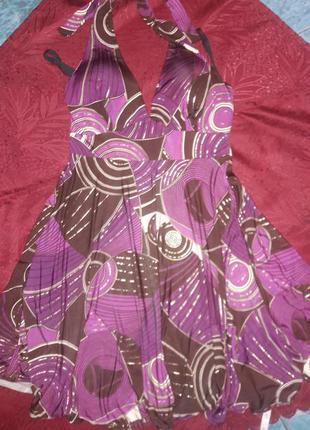 Яркий сарафан-платье