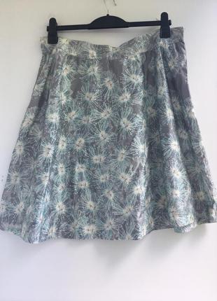 Отличная юбка на лето, шелковая, натуральный шёлк , sino