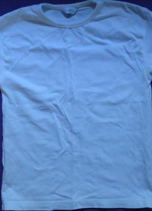 Белая базовая футболка унисекс 6-7 лет