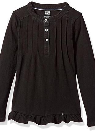 Кофта свитер лонгслив туника levis на девочку  4 и10-12 лет