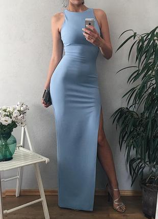 Идеальное вечернее платье небесного цвета