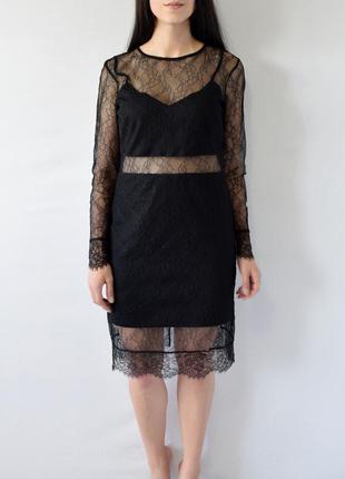 Платье с кружевом topshop
