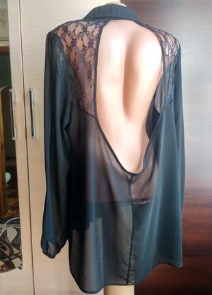 Стильная шифоновая блуза с шикарной открытой спинкой