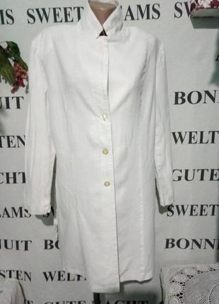 Льняной удлиненный пиджак uk-18
