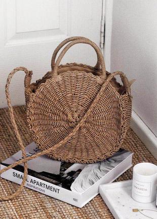 Тренд этого лета!!! круглая соломенная сумка!