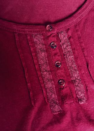 Кофточка модного цвета бордо, марсал