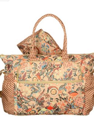 Ультралёгкая и вместительная дорожная сумка для мамы/кроссбоди oilily, нидерланды. цветы