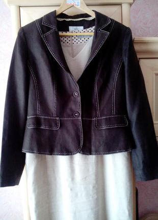 Летний пиджак из натуральной ткани