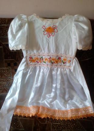 Детское вышитое платье1