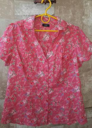 F&f женская рубашка в цветочек