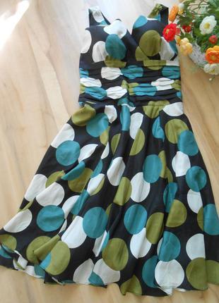 16-18 великолепное шёлковое платье на подкладке