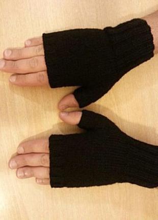 Перчатки - митенки мужские для спорта и отдыха, на каждый день