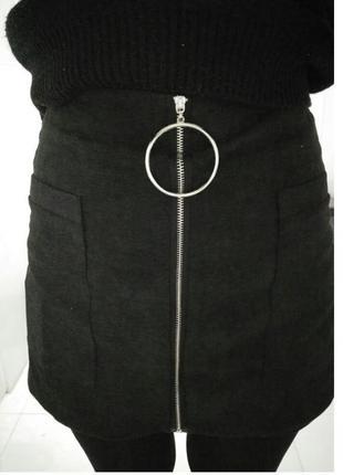 Актуальная юбка-шорты с высокой талией