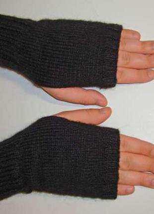 Митенки - перчатки мужские стильные на каждый день