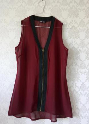 Бордовая блуза майка selected femme