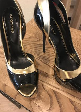 Туфли с открытым носком sergio rossi оригинал