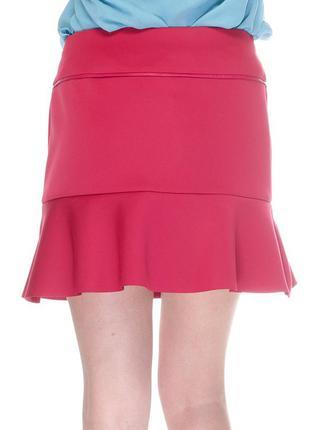 Бесшовная юбка с вставками из кожзама promod pp s, распродажа!!