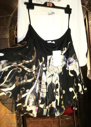 46-48р. look  шикарная расклешенная шелковая юбка в цветочный принт в стиле монро.