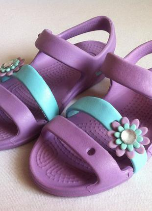 Босоножки, сандалии crocs размер с 10 27 по стельке 17-17,5 см оригинал!!!