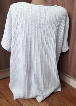 Тонкая фудболка свитерок с коротким рукавом3 фото