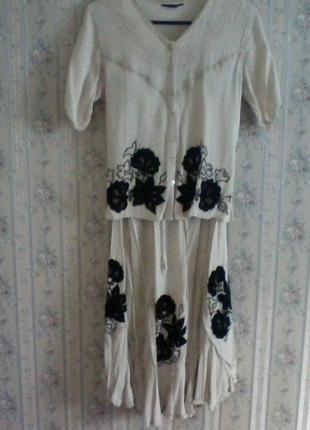 Платье в пол, костюм италия, разм 46-48