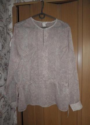Блуза  рубашка цветочный принт
