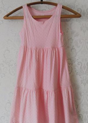 Детское платье в горошек из органического хлопка h&m