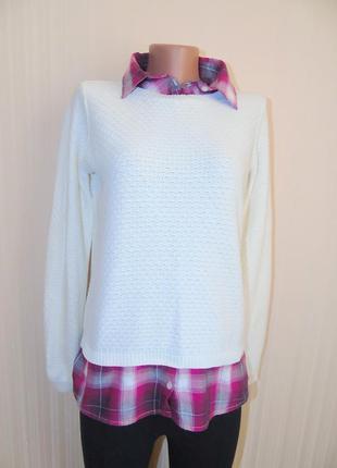 Красивая кофточка с рубашкой-обманкой от dorothy perkins