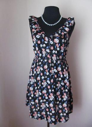 Платье в цветочек new look