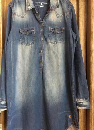 Супер цена!!!  трендовое джинсовое платье с длинным рукавом