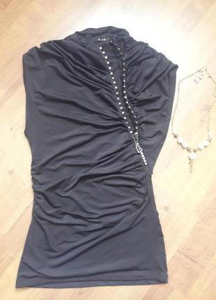 Черная элегантная блуза