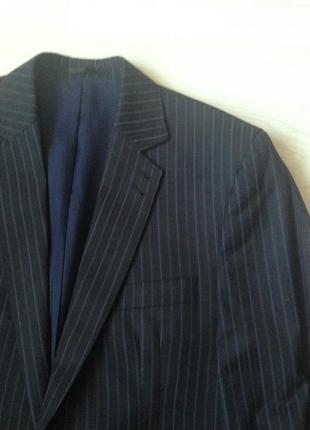 👍 braga! шикарный классический шерстяной костюм темно-синий в полоску!👍