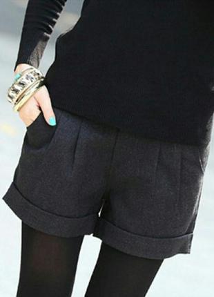 Фирменные шорты короткие серые с карманами