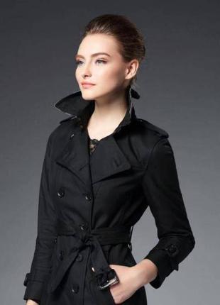 Черный короткий тренч, курточка, пиджак, жакет vero moda