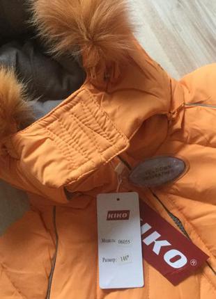 Тёплый пуховик для девочки kiko. оригинал