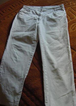 Стрейчевые белые джинсы, брюки летние раз 52-54