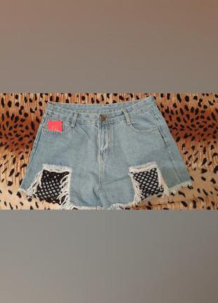 Новые крутые джинсовые шорты
